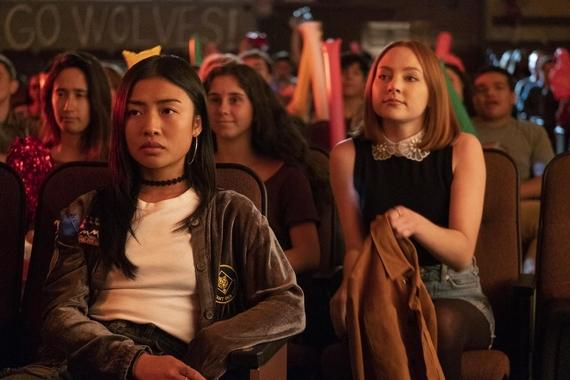 "Light as a Feather -- ""...Mad as a Hatter"" - Episode 105 - Violet uncovers crucial information about the girls' relationship. Alex (Brianne Tju) and Violet (Haley Ramm), shown. (Photo by: Alex Lombardi/Hulu)"