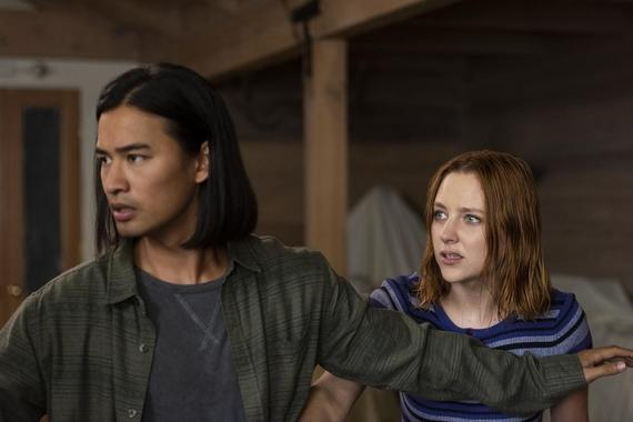 "Light as a Feather -- ""...Innocent as a Lamb"" - Episode 109 - Violet recounts an important story from her past. Trey (Jordan Rodrigues) and Violet (Haley Ramm) shown. (Photo by: Rachael Thompson/Hulu)"
