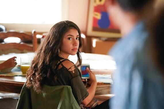 "Love, Victor -- ""Welcome to Creekwood"" - Episode 101 -- Victor arrives at Creekwood a year after the events of LOVE, SIMON excited to start his new life. Pilar (Isabella Ferreira), shown. (Photo by: Mitchell Haaseth/Hulu)"