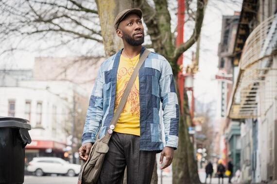 "Woke -- ""Rhymes with BrokeÓ - Episode 101 -- When up-and-coming cartoonist Keef Knight has a traumatic run-in with the police, he begins to see the world in an entirely new way. Keef (Lamorne Morris), shown. (Photo by: Joe Lederer/Hulu)"