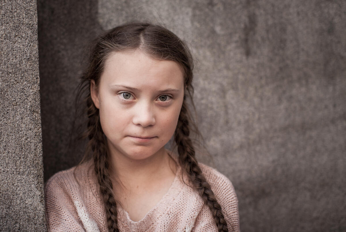 I AM GRETA -- The story of Greta Thunberg, the Swedish schoolgirl who, at 16, is leading the global school strike for action on climate change. Greta Thunberg, shown. (Photo By: Courtesy of Hulu)