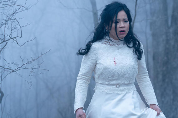 "Monsterland -- ""Iron River, MI"" -- Episode 107 -- A neglected daughter longs for another life. Lauren Mills (Kelly Marie Tran), shown. (Photo by: Barbara Nitke/Hulu)"