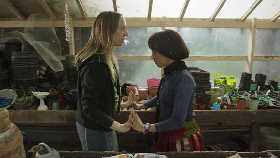 "PEN15 -- ""Vendy Wiccany"" - Episode 203 -- Anna and Maya discover secret powers within, allowing them to control rocky aspects of their lives through magic. Anna Kone (Anna Konkle), Maya Ishii-Peters (Maya Erskine), shown. (Photo by: Courtesy of Hulu)"