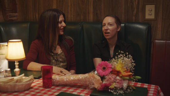 "PEN15 -- ""Opening Night"" - Episode 207 -- It's opening night. Hearts are exposed, forcing both Anna and Maya to grow up. Kathy Kone (Melora Walters), Anna Kone (Anna Konkle), shown. (Photo by: Courtesy of Hulu)"