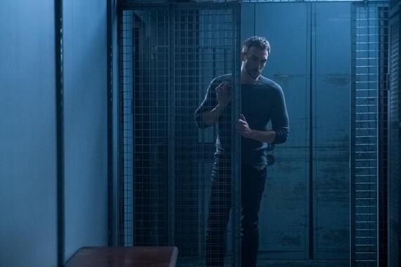 """Helstrom -- """"Containment"""" -- Episode 104 -- A demonic enemy brings together an unusal group. Daimon and Ana travel to San Francisco in search of Yen and an artifact that may help defeat the enemy. Ana tells Daimon about her extracurricular activities, and Gabriella's faith is attacked. Daimon Helstrom (Tom Austen), shown. (Photo by: Katie Yu/Hulu)"""