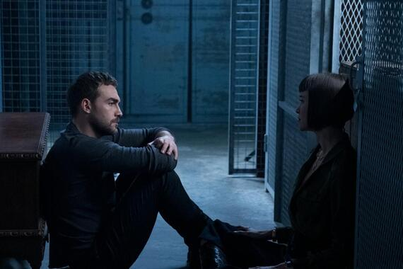 """Helstrom -- """"Containment"""" -- Episode 104 -- A demonic enemy brings together an unusal group. Daimon and Ana travel to San Francisco in search of Yen and an artifact that may help defeat the enemy. Ana tells Daimon about her extracurricular activities, and Gabriella's faith is attacked. Daimon Helstrom (Tom Austen) and Ana Helstrom (Sydney Lemmon), shown. (Photo by: Katie Yu/Hulu)"""