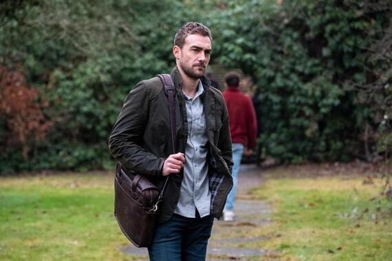 """Helstrom -- """"Committed"""" -- Episode 105 -- Things are not what they seem as Mother's health sharply declines. As Ana searches for Yen, Gabriella offers counsel to a student struggling to understand how demons live among us. Daimon makes a discovery that is truly a matter of life and death. Daimon Helstrom (Tom Austen), shown. (Photo by: Liane Hentscher/Hulu)"""