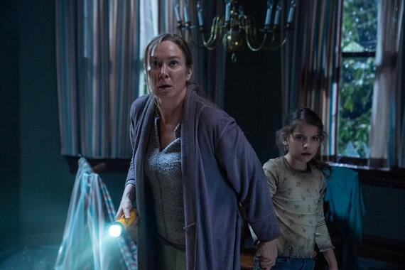 """Helstrom -- """"Committed"""" -- Episode 105 -- Things are not what they seem as Mother's health sharply declines. As Ana searches for Yen, Gabriella offers counsel to a student struggling to understand how demons live among us. Daimon makes a discovery that is truly a matter of life and death. Victoria Helstrom (Elizabeth Marvel) and Young Ana Helstrom (Erica Tremblay), shown. (Photo by: Katie Yu/Hulu)"""
