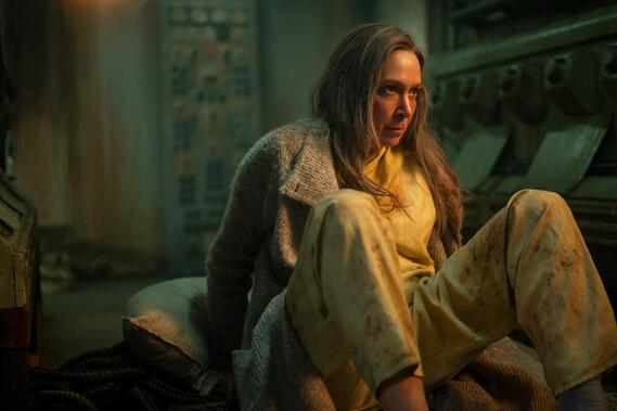"""Helstrom -- """"Underneath"""" -- Episode 108 -- Relationships deepen as stakes increase. To save a life, Hastings and Ana must do the unthinkable. Gabriella and Daimon journey to his childhood home in search of an old relic. A mother loses a son but gains an heir. Victoria Helstrom (Elizabeth Marvel), shown. (Photo by: Kailey Schwerman/Hulu)"""