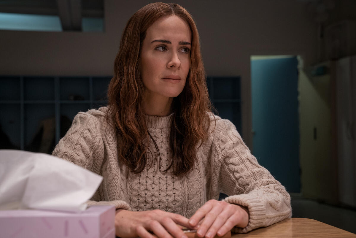 RUN -- They say you can never escape a mother's love... but for Chloe, that's not a comfort — it's a threat. There's something unnatural, even sinister about the relationship between Chloe (newcomer Kiera Allen) and her mom, Diane (Sarah Paulson). Diane has raised her daughter in total isolation, controlling every move she's made since birth, and there are secrets that Chloe's only beginning to grasp. From the visionary writers, producers and director of the breakout film Searching, comes a suspense thriller that shows that when mom gets a little too close, you need to RUN. Diane (Sarah Paulson), shown. (Photo by: Allen Fraser/Hulu)