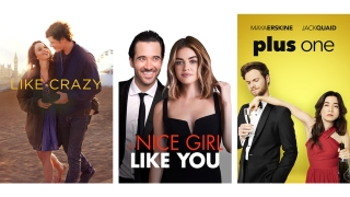 Title images for Like Crazy, A Nice Girl Like You, and Plus One