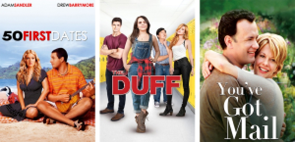 titles images for 50 First Dates, The DUFF, and You've Got Mail