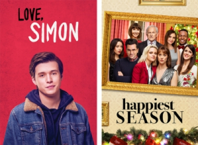 Title images for Love, Simon and Happiest Season