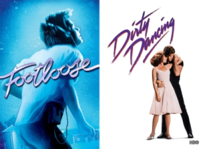 Title images for Footloose and Dirty Dancing
