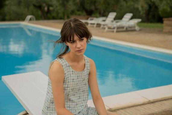 Normal People -- Episode 8 - Episode 108 -- It's the summer holidays and Connell (Paul Mescal) and Niall (Desmond Eastwood) arrive at Marianne's (Daisy Edgar-Jones) family house in Italy. The obvious chemistry between Connell and Marianne causes friction with Jamie (Fionn O'Shea), despite Connell's evident happiness with his girlfriend Helen (Aoife Hinds), who he clearly misses. Peggy (India Mullen) cooks the group a lavish meal but tensions run high. During dinner, Jamie drinks too much and picks a fight with Marianne. Connell breaks it up and attempts to soothe Marianne. Marianne stays in Connell's room that night to get away from Jamie. They talk and almost kiss, but Marianne puts a stop to it before it goes any further. Marianne (Daisy Edgar-Jones), shown. (Photo by Enda Bowe/Hulu)
