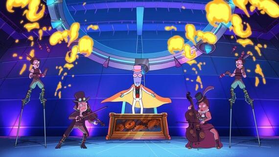 "Solar Opposites -- Episode 103 -- ""The Quantum Ring"" -- TaDAH! Korvo becomes a magician! (Photo courtesy of FOX)"