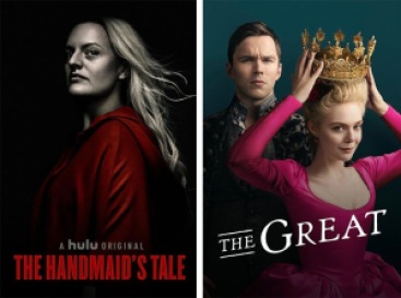 Title art for the Hulu Original series The Handmaid's Tale and The Great