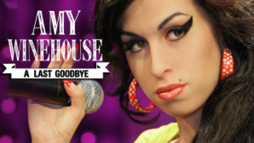 Title art for the Amy Winehouse documentary A Last Goodbye