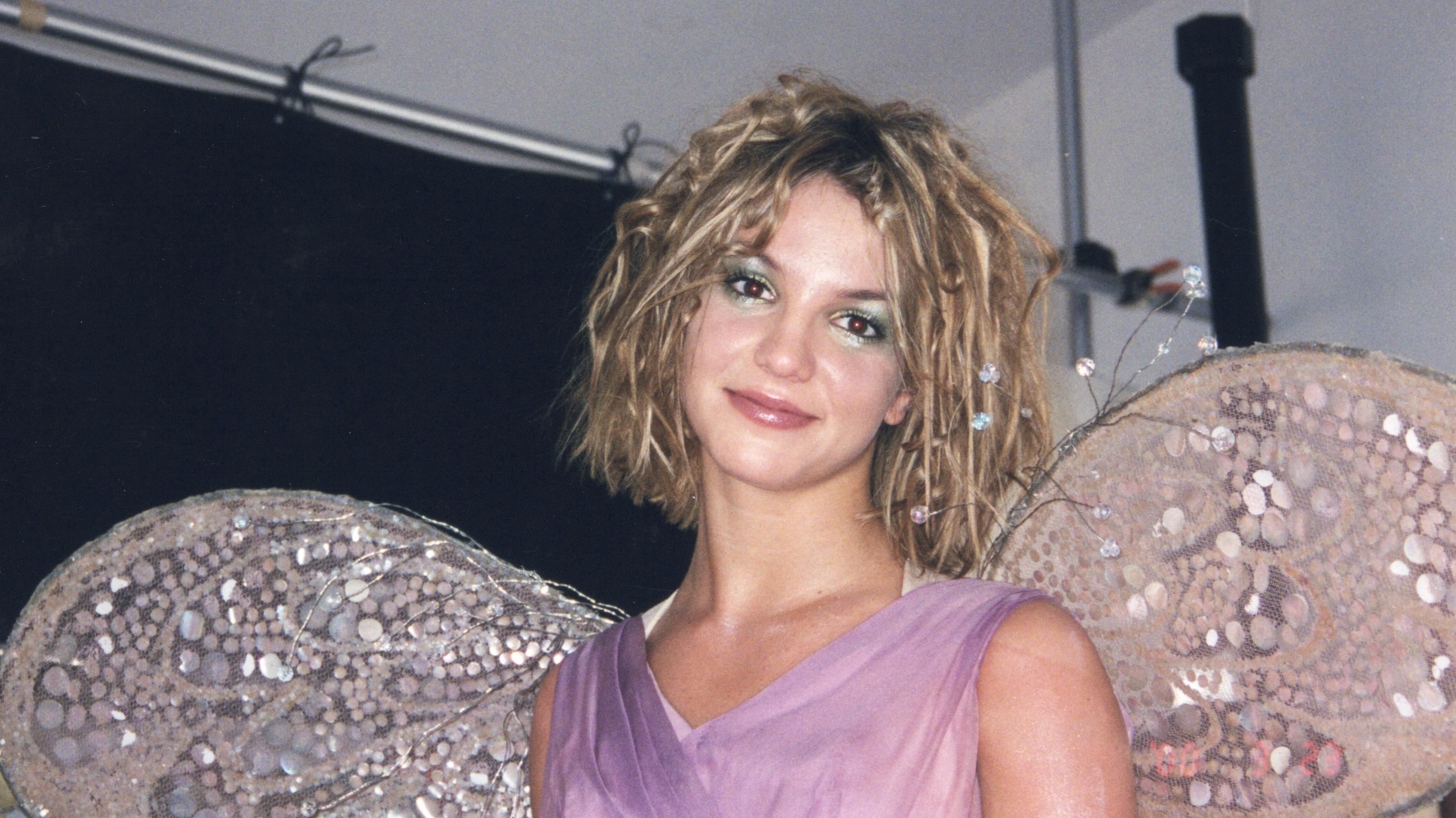 Britney Spears wearing butterfly wings