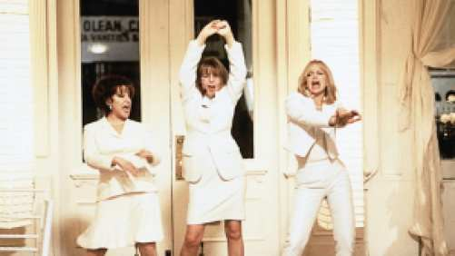 Diane Keaton, Goldie Hawn, and Bette Midler dancing in First Wives Club