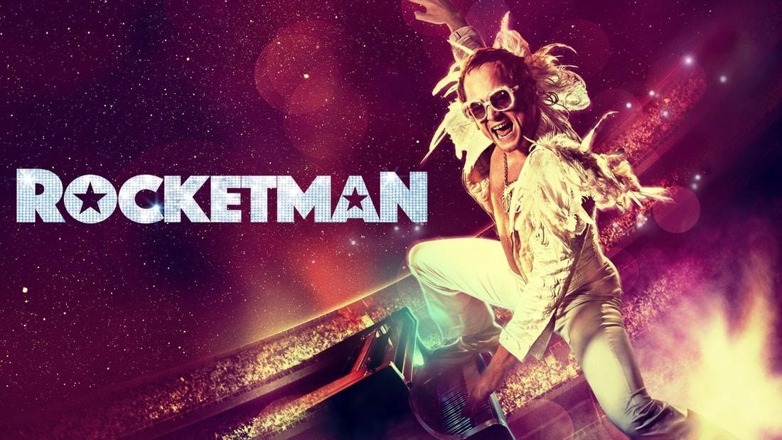 Taron Egerton performing as Elton John in the 2019 film Rocketman.