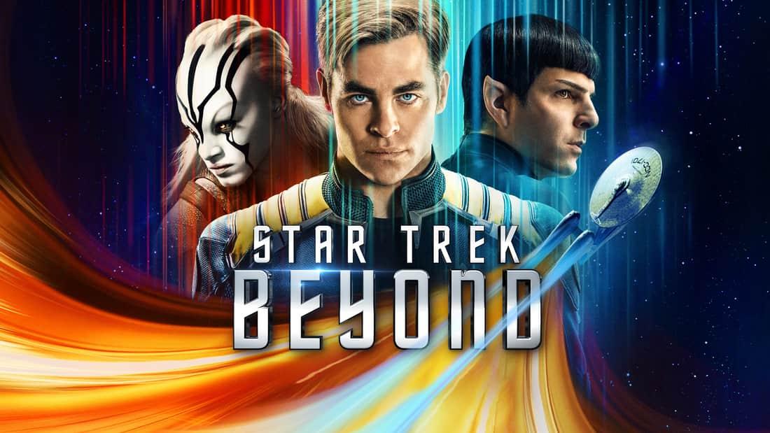 alt text: Title art for Star Trek Beyond featuring Chris Pine.