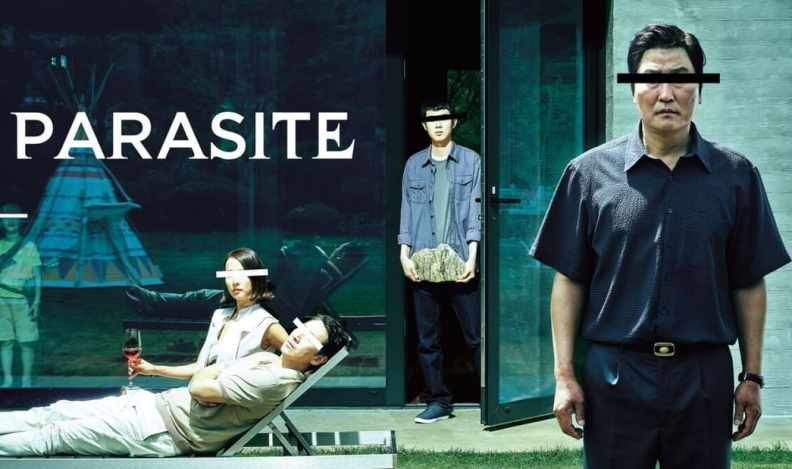 title art for the film Parasite on Hulu