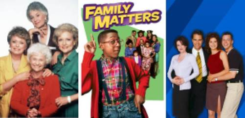 90s Sitcoms on Hulu, Golden Girls, Family Matters, and Will & Grace.