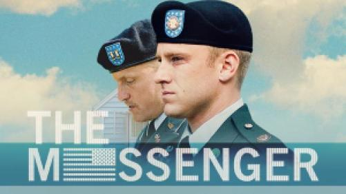 Ben Foster and Woody Harrelson starring in The Messenger.