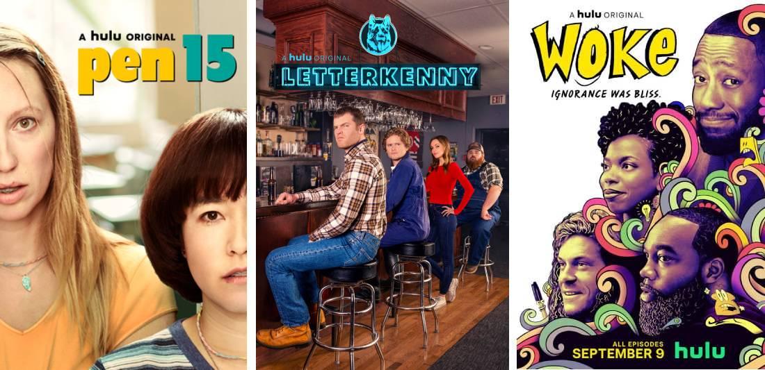 Hulu Original Comedies: Pen15, Letterkenny, and Woke.