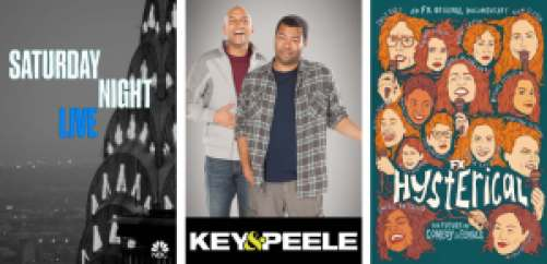 Stand Up Comics on Hulu: SNL, Key & Peele, and Hysterical.