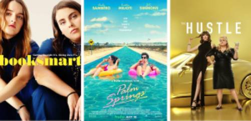 Best Comedies on Hulu: Booksmart, Palm Springs, and The Hustle.