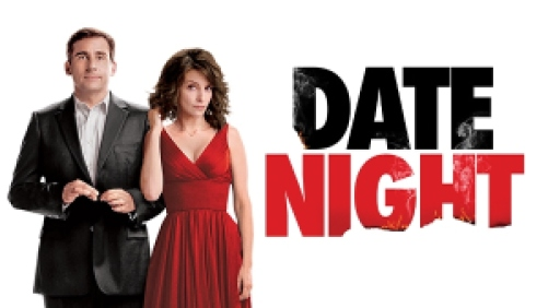 Title art for the movie Date Night featuring Steve Carell and Tina Fey