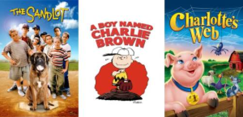 title art for classic kids movies on hulu