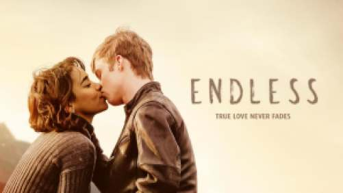Title art for the movie Endless, featuring a couple kissing.