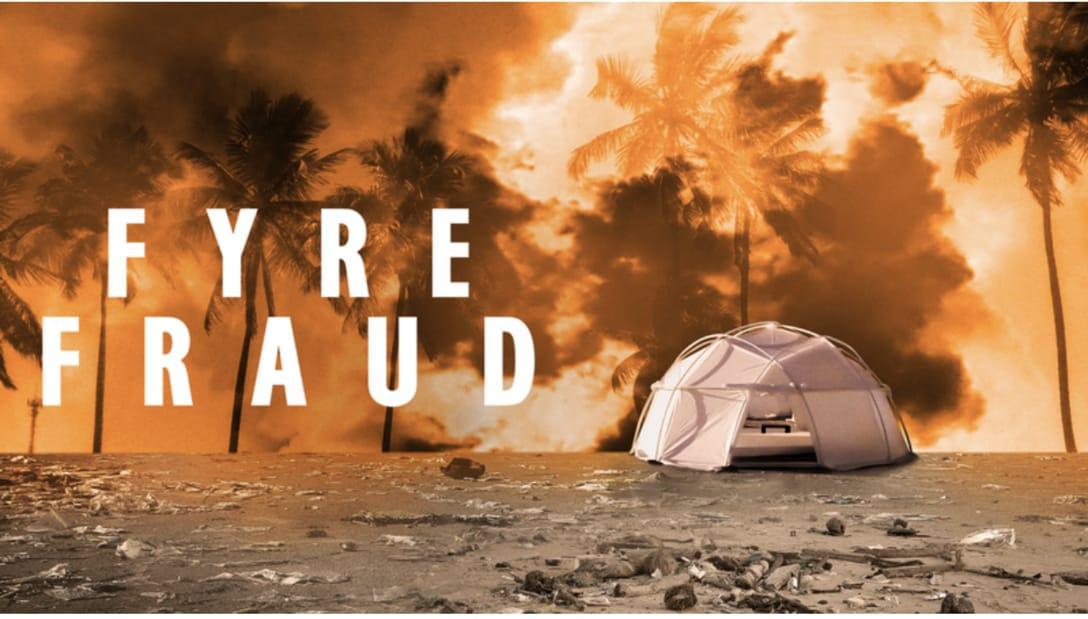 Title art for the Hulu Original documentary Fyre Fraud