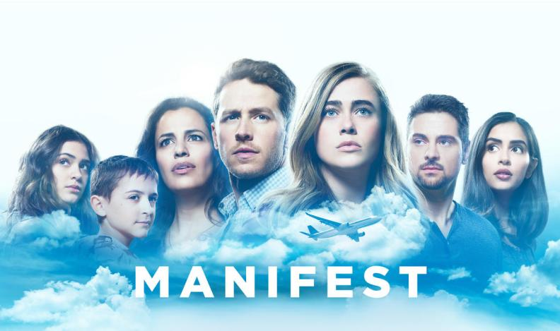 the cast of Manifest looking into the sky