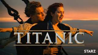 Kate Winslet and Leonardo DiCaprio on a ship starring in Titanic.