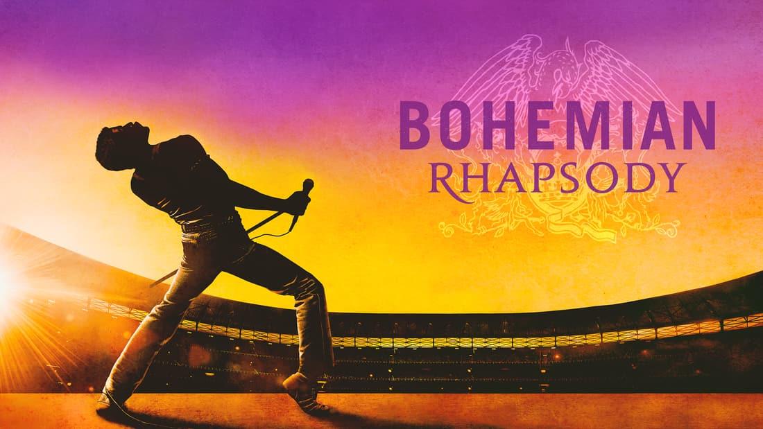 Title art for the musical biopic, Bohemian Rhapsody.