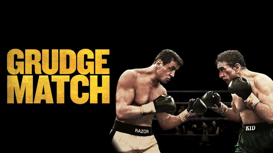 Title art for Grudge Match featuring Robert De Niro and Sylvester Stallone