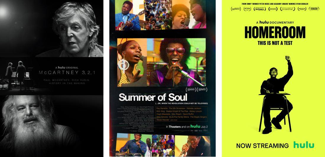 trending documentaries on Hulu: McCartney 3,2,1, Summer of Soul, Homeroom