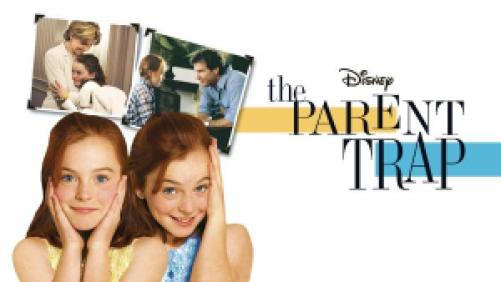 Title art for The Parent Trap, featuring Lindsay Lohan