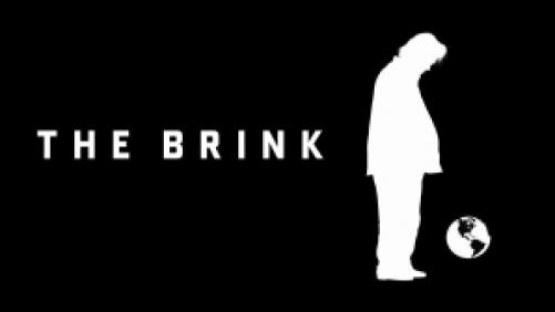 Title art for The Brink, featuring the silhouette of Steve Bannon.