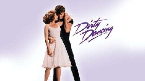 Title art for Dirty Dancing, featuring Jennifer Grey and Partick Swayze