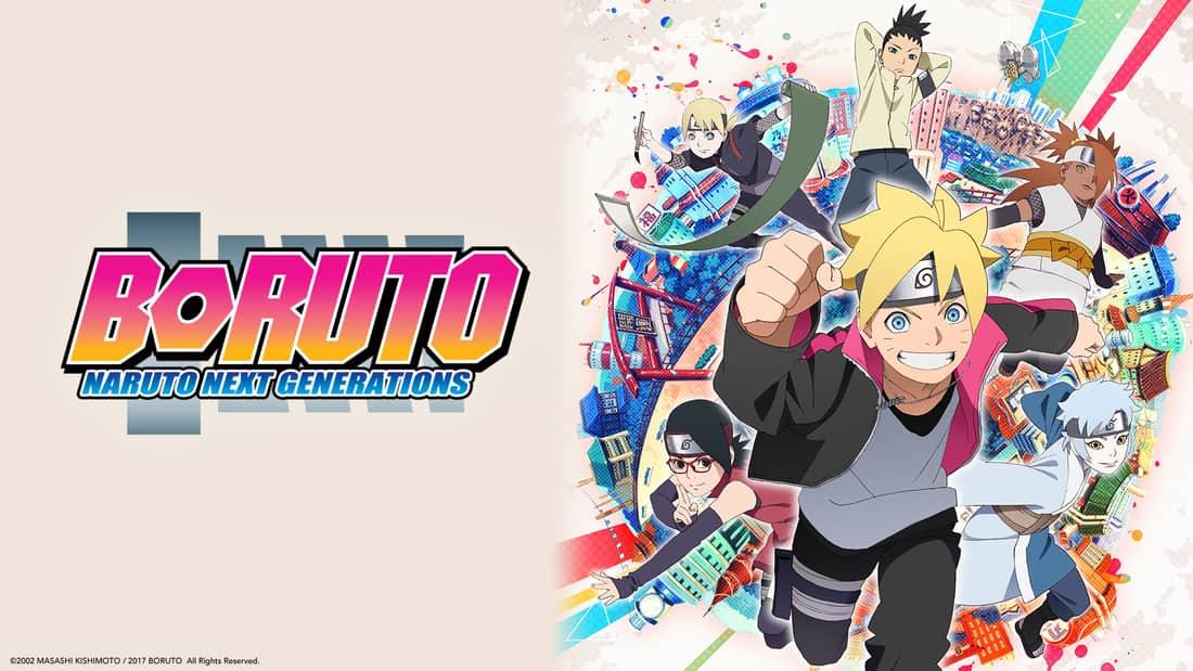 Title art for the anime series Boruto