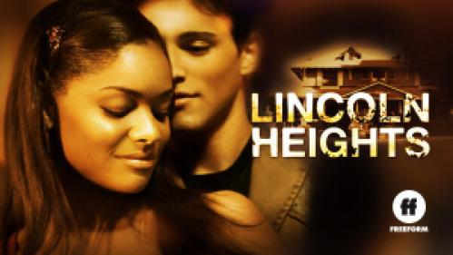 Title art for Lincoln Heights, featuring Erica Hubbard and Robert Adamson