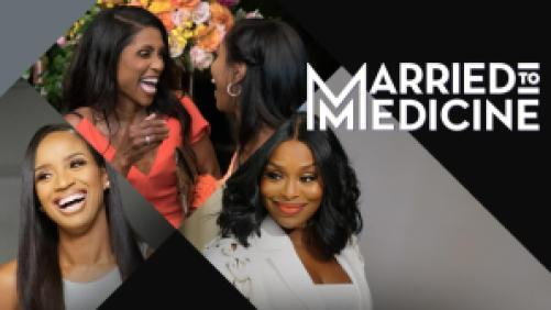 Title art for Married to Medicine on Bravo.