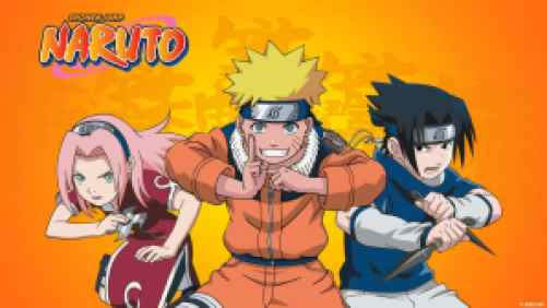 Title art for the anime series Naruto
