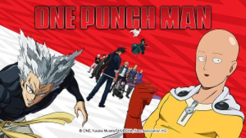 Title art for the anime series One Punch Man