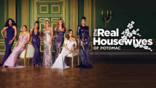 Title art for The Real Housewives of Potomac on Bravo.